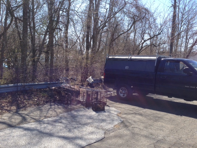 Shopping Carts Recovered from the  Naamans Creek - Tri-State Mall